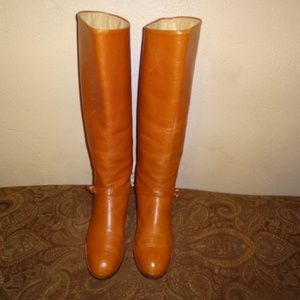 Shoes - Brown Leather Riding Boots 10M